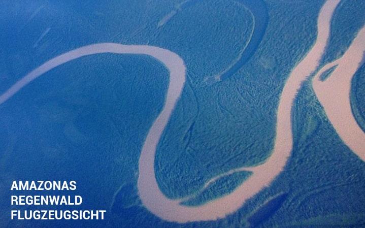 Amazonas Regenwald Bolivien Flugzeugsicht