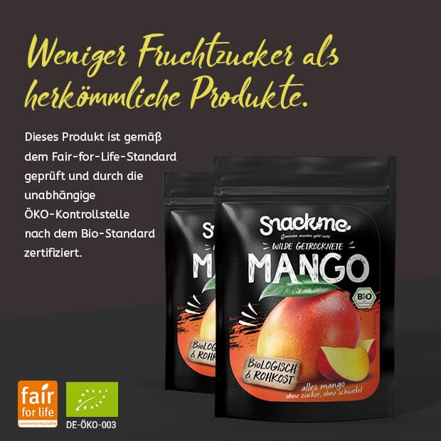 Bio Fair Trade getrocknete wilde Mango
