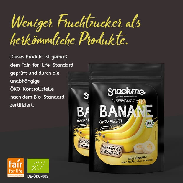Bio Fair Trade getrocknete Bananen