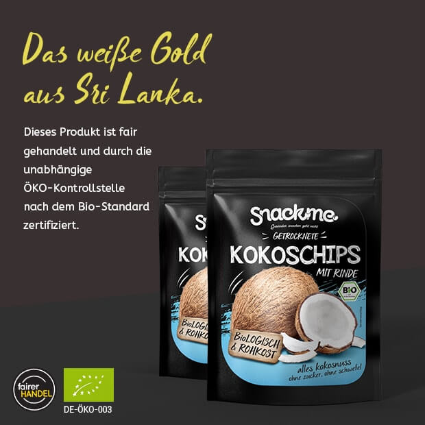 Bio Fair Trade getrocknete Kokoschips