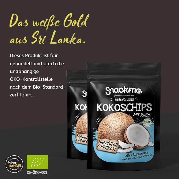 Bio Fair Trade getrocknete Kokoschips