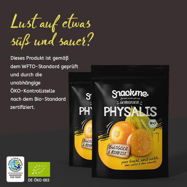Bio Fair Trade getrocknete Physalis