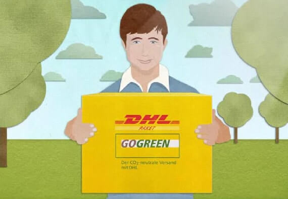Versand DHL GO GREEN