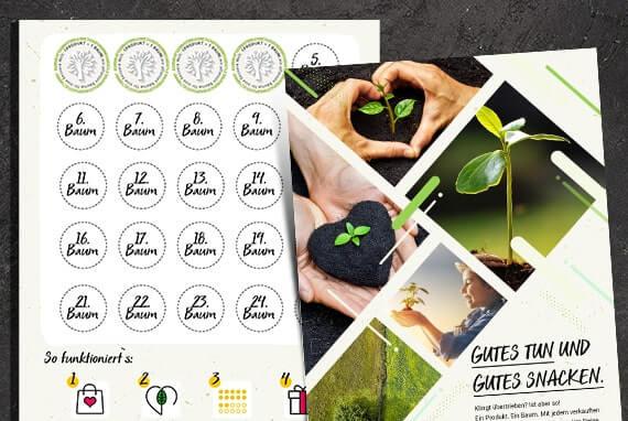 Einkaufen, Bäume pflanzen, Punkte sammeln