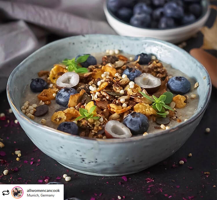 smoothie bowl coquitos blaubeeren