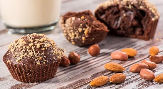 Muffin mit Mandelkernen