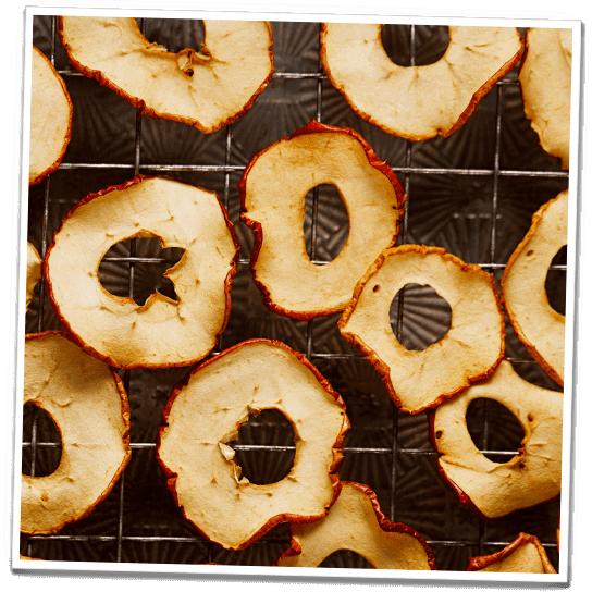 Gefriertrocknung Apfelchips
