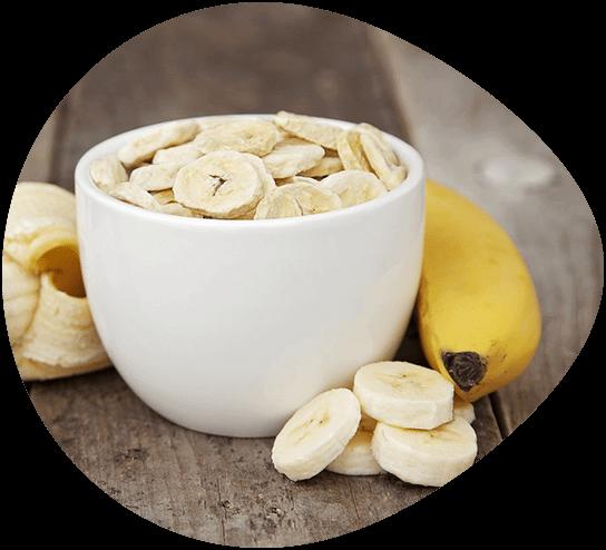 Bio Bananen-Scheiben Gefriertrocknung