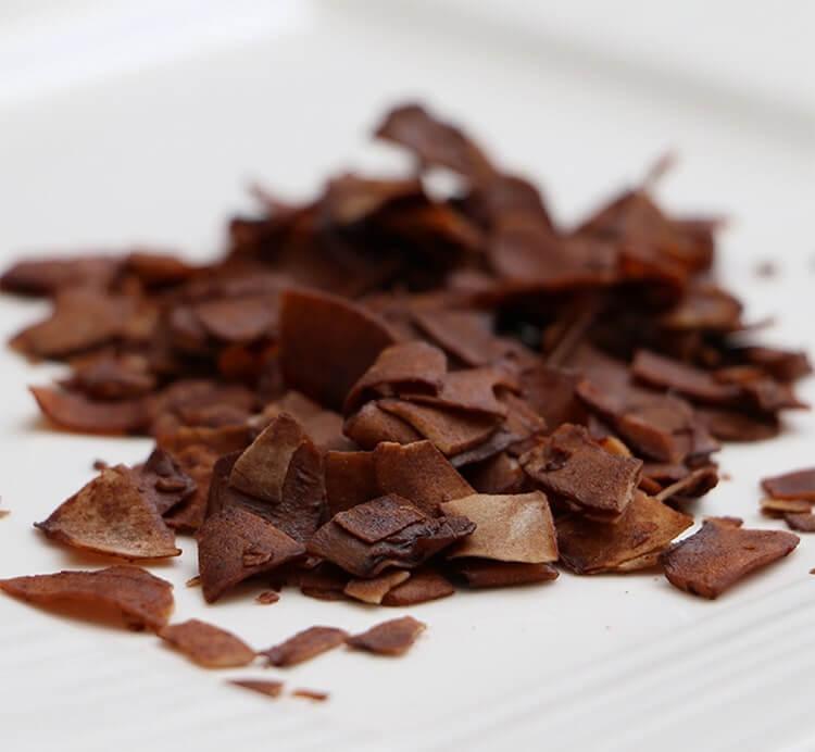Kokoschips mit Schokolade