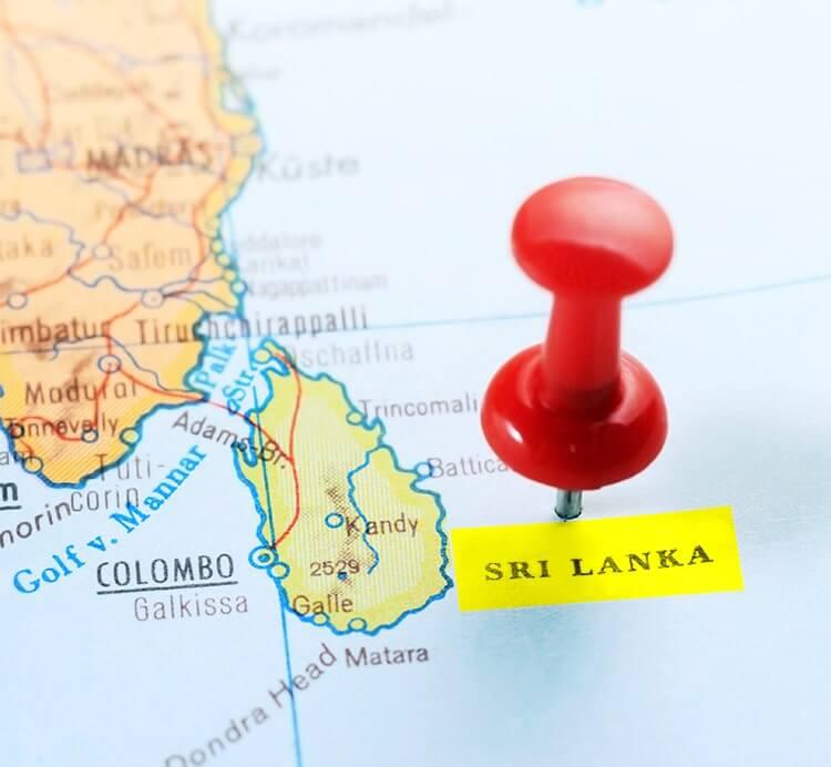 Landeskarte Sri Lanka