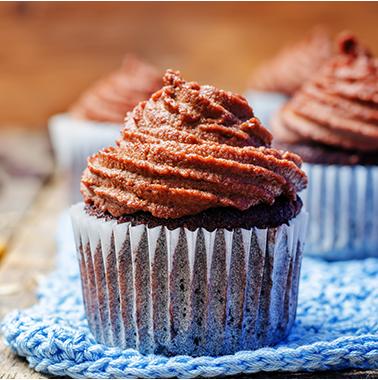 Schoko-Muffin mit Haselnussmus