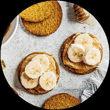 Bananenbrot mit Mandelmus