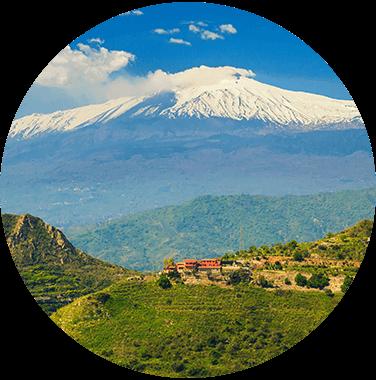 Pistazienanabu Vulkan Ätna