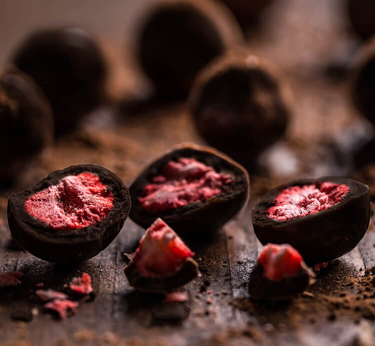 Erdbeeren Zartbitterschokolade