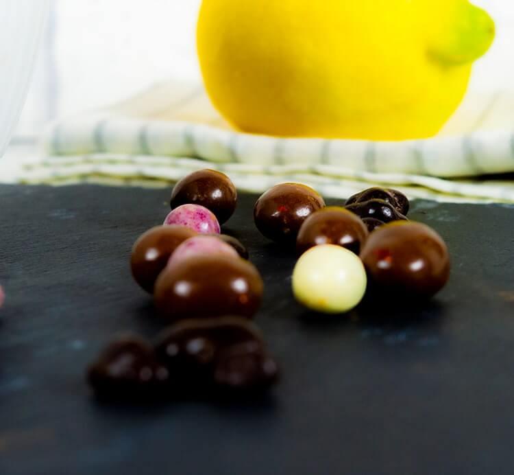 Schoko Beeren Mix mit drei Beeren-Sorten