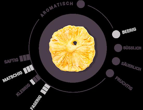 Bio getrocknete Ananasringe Cayenne Geschmack