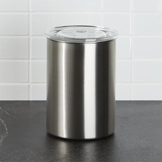 Edelstahldose Silber