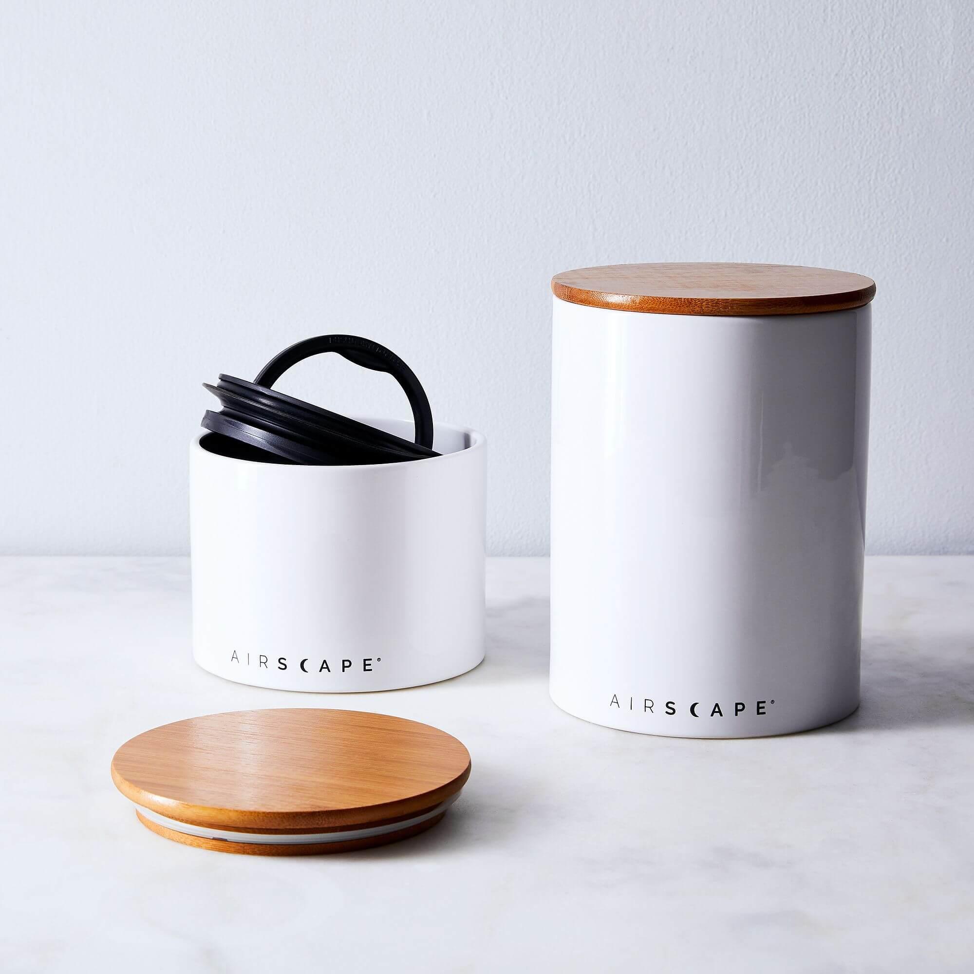 Keramik Vakuumbehälter weiß